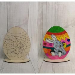 Malowanka wielkanocna jajko zajaczek