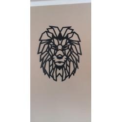 Obraz geometryczny głowa lwa