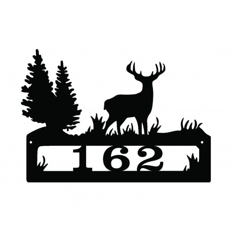 Metalowy-numer-na-dom-jelen