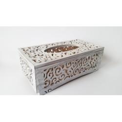 Ażurowe pudełko na chusteczki