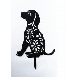 Ozdoba ogrodowa pies