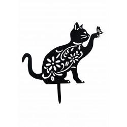 Ozdoba ogrodowa kot