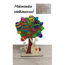 Malowanka wielkanocna drzewko